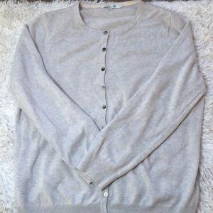 Boden 100% cashmere cream speckled button cardigan